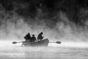 B&W Fishing at Day Break Quake Lake